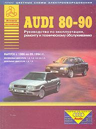 Руководство по ремонту AUDI 80/90, с 1986 по 1994 г., бензин/дизель