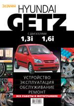 """""""В руководстве рассмотрены устройство, техническое обслуживание и ремонт автомобилей Hyundai Getz с двигателями..."""