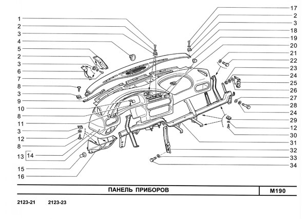 Панель приборов Шевроле НИВА 2123 NIVA Chevrolet.