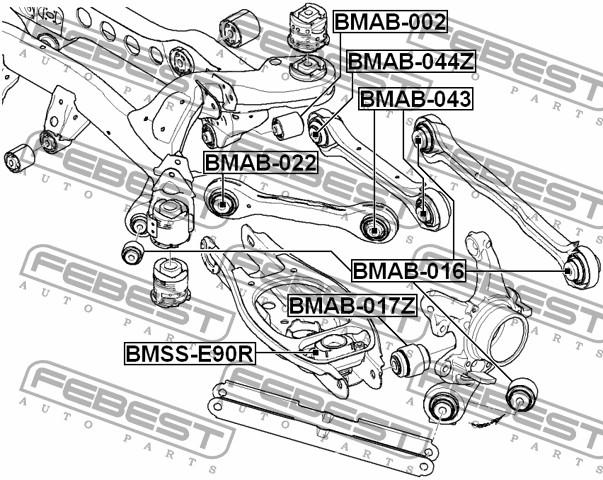Запчасти, шарнир задней цапфы bmw e38/e39/e60/e65/x5